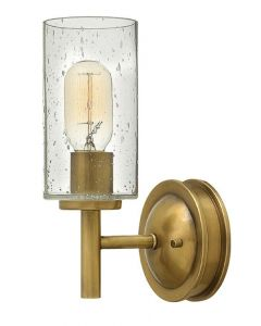 HK/COLLIER1 Collier 1 Light Wall Light In Heritage Brass