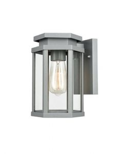 OUT6623 Exterior Outdoor Wall Lantern Light In Silver Grey