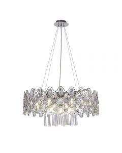 Diyas IL31062/G9 Kenzie Sixteen Light Ceiling Pendant Light In Polished Chrome
