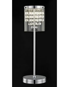 Impex LED608242/01/TL/CH Florina One Light Table Lamp In Chrome