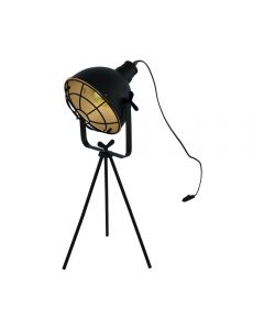 Eglo 49673 Cannington 1 Light Table Light In Black And Gold