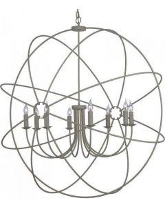 David Hunt Lighting ORB0839 Orb 8 Light Ceiling Pendant in Ash Grey