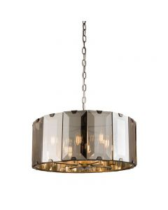 Ceiling Pendant Light with Smoked Glass Panels