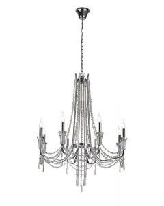 Diyas IL31744 Armand 8 Light Ceiling Pendant In Polished Chrome
