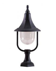 Elstead SHANNON PED Shannon 1 Light Outdoor Pedestal Light In Black
