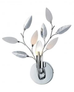 Meadow 1 Light Wall Light Fitting In Polished Chrome