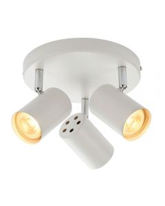 Saxby 73685 Arezzo Three  Light Plate Ceiling Spotlight In White