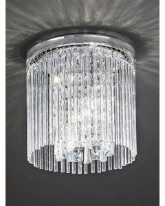 C5723 Small Crystal Flush Ceiling Light