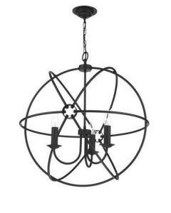 David Hunt Lighting ORB0322 Orb 3 Light Ceiling Pendant in Black