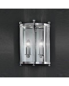 L7000/2 Pultney2 Light Polished Chrome Wall Lantern