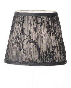 Grey Pleat Textured  Candle Shade - 130mm