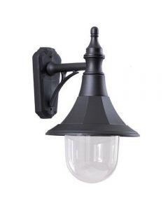 Elstead SHANNON DOWN Shannon 1 Light Outdoor Down Light Wall Light In Black