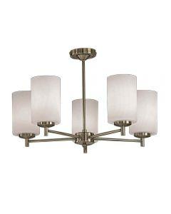 F2272/5 Bronze 5 Light Semi-Flush Ceiling Light