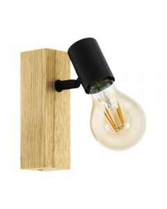 Eglo 98111 Townshend 3 1 Light Spotlight In Brown And Black