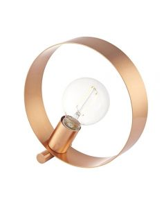 Endon 90455 Hoop 1 Light Table Lamp In Brushed Copper Plate