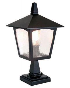 Elstead BL7 York exterior pedestal lantern, black, IP43