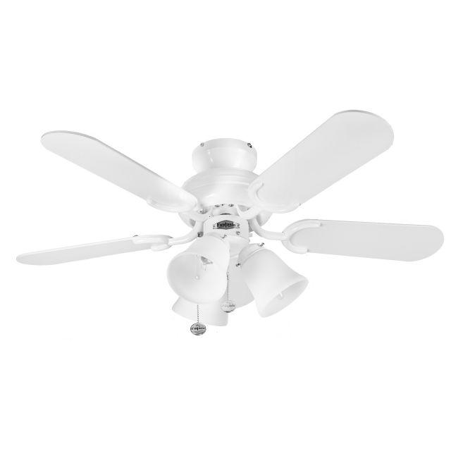 "Fantasia 110194 Capri 36"" Ceiling Fan In White With Belmont Light"
