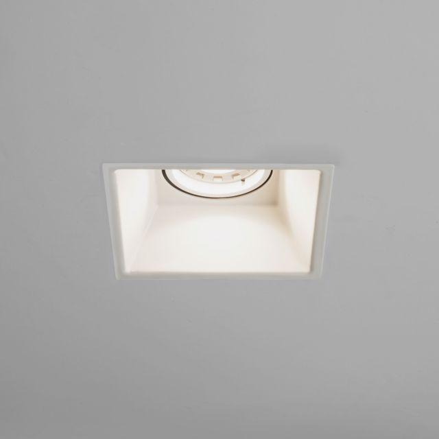 Astro 1249007 Minima Square Fixed Interior Downlight In White