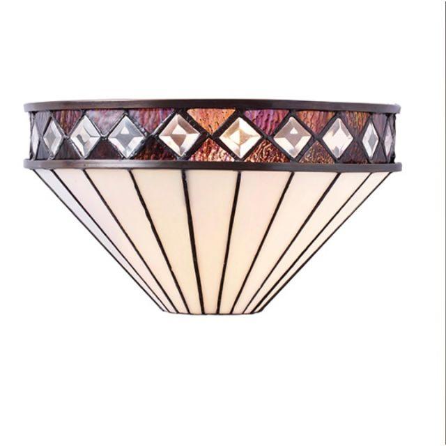 Interiors 1900 64149 Fargo Tiffany 1 Light Wall Light With Shade