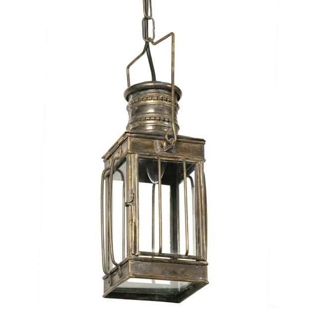 Large Cargo 422 Traditional Solid Brass 1 Light Lantern