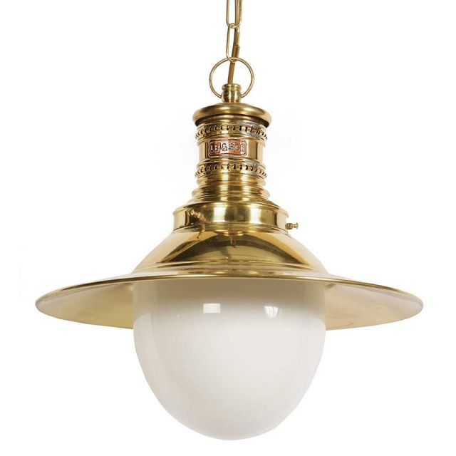 437 Victoria 1 Light Exterior Pendant with Shade