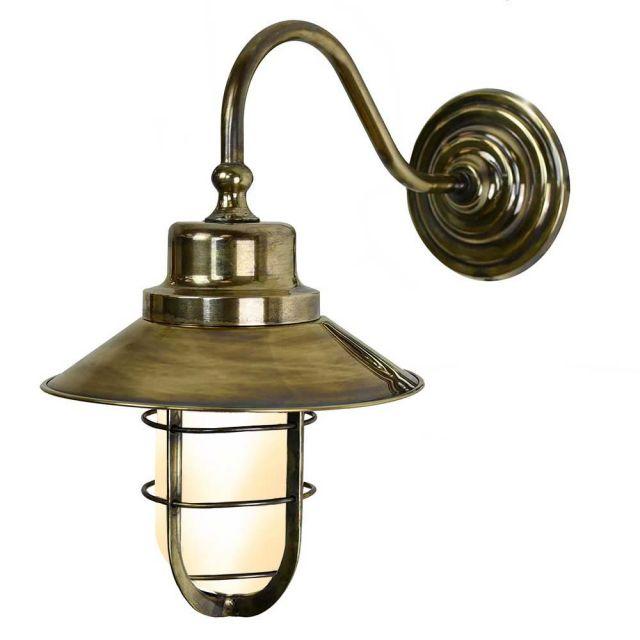 448W (F) Wheelhouse Exterior Brass Wall Light