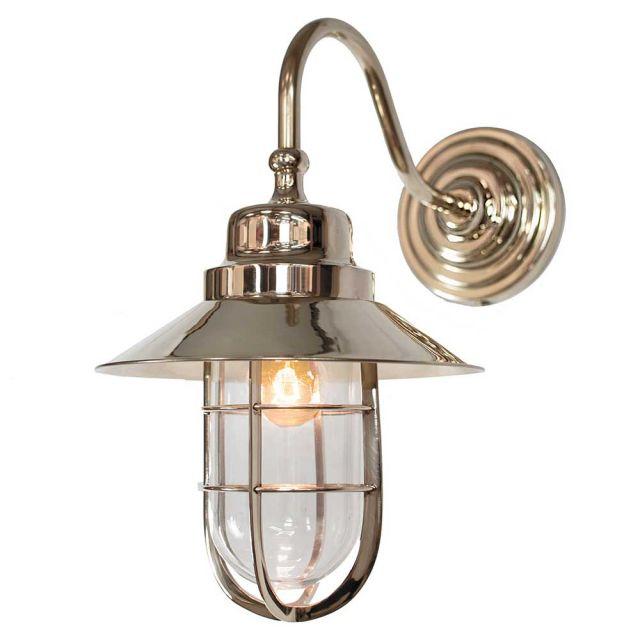 N448w Nickel Solid Brass Outdoor Wheelhouse Lamp