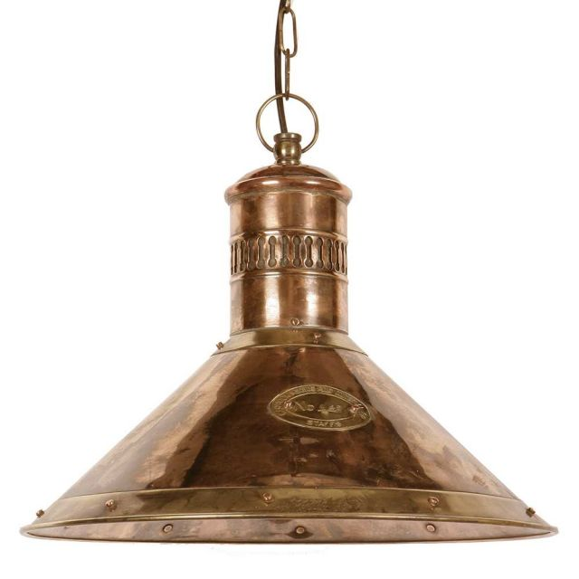 Deck 449 Traditional Solid Copper and Brass Ceiling Pendant