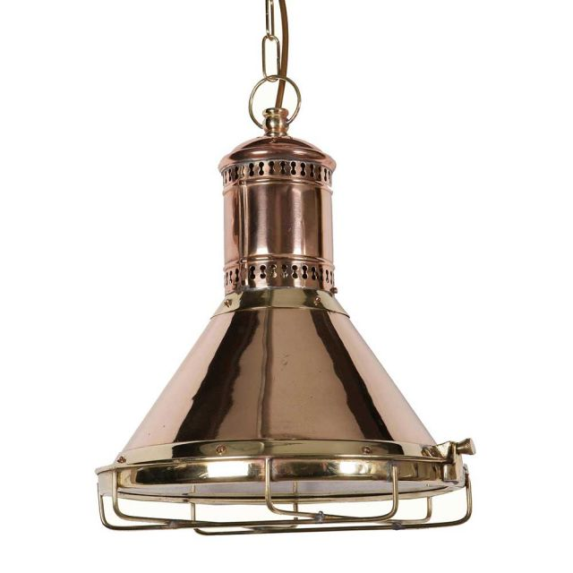 Freighter 450 Traditional Solid Copper and Brass Ceiling Pendant