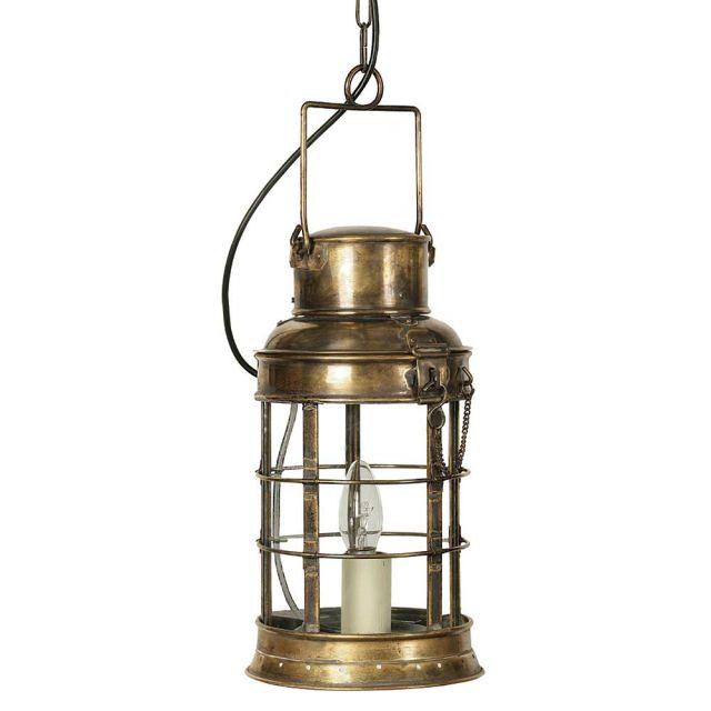 Watchman 454 Traditional Solid Brass 1 Light Lantern