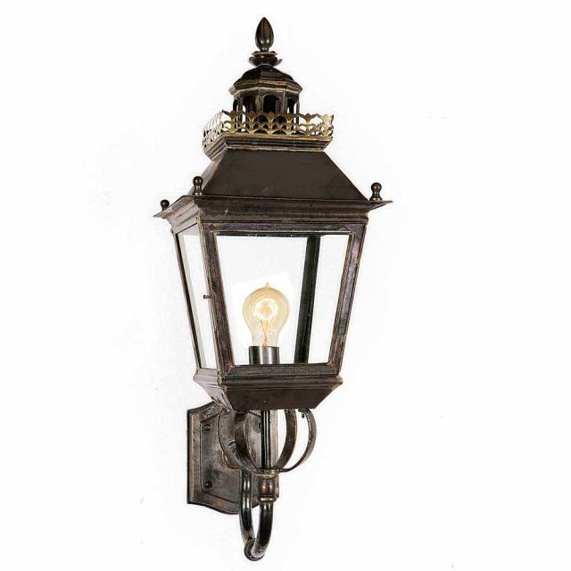 502 Chateau 1 Light Solid Brass Exterior Wall Light