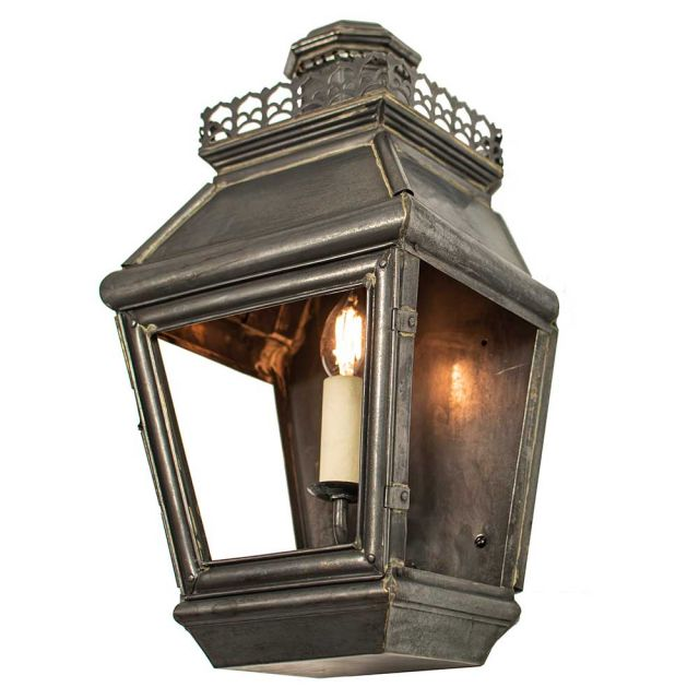 503 Chateau 1 Light Exterior Solid Brass Wall Light