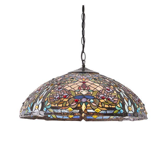 Interiors 1900 63902 Anderson Tiffany 3 Light Ceiling Pendant Light