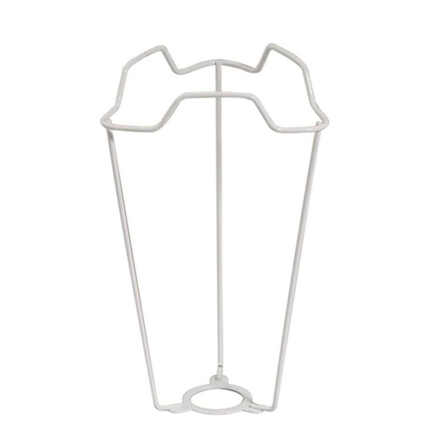 """7"""" White Shade Carrier to Support Lamp Shade With Duplex Ring Fitting - 29mm Hole to Fit BC B22 Cap TypeE Light Bulbs"""
