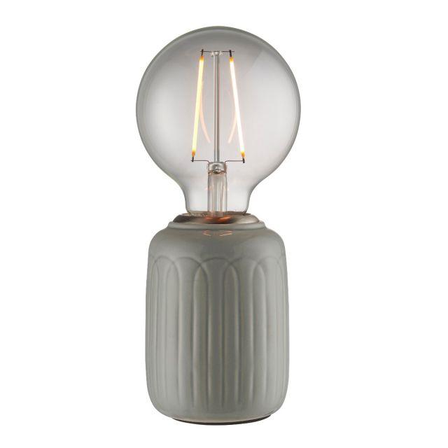 Endon Lighting 94506 Olivia Ceramic Table Lamp In Gloss Thyme Finish