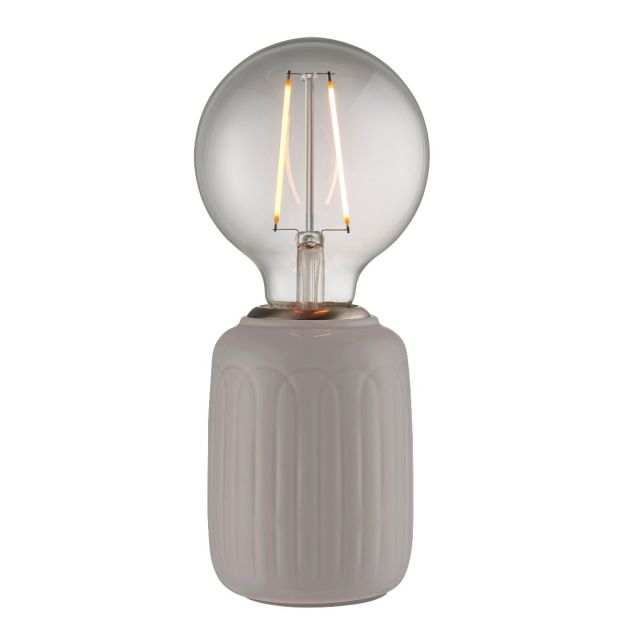 Endon Lighting 94507 Olivia Table Lamp In Gloss Taupe Finish