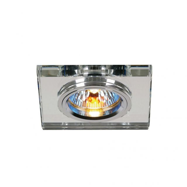 Diyas IL30817CH Clear Crystal Recessed Square Downlights Fascia