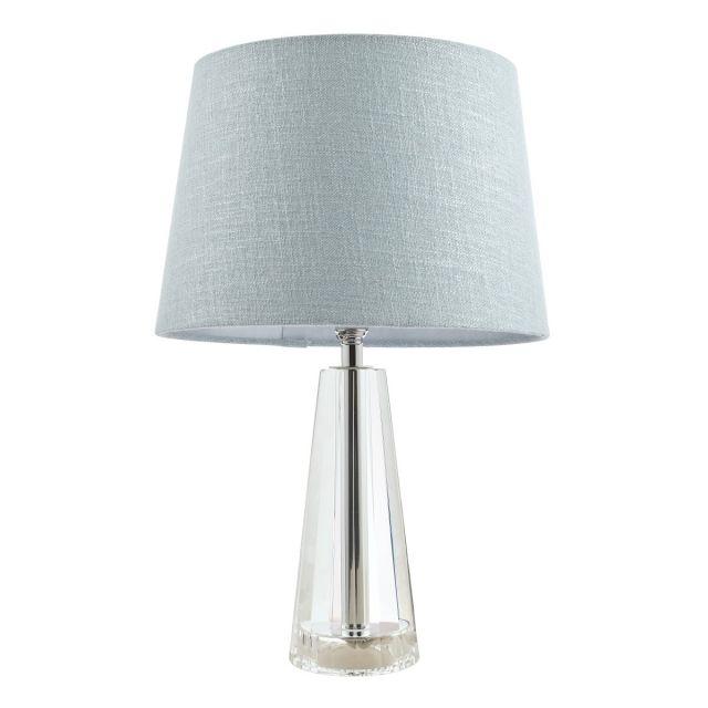 Laura Ashley Blake Cut Glass Crystal Obelisk Small Table Lamp Base In Polished Chrome Finish