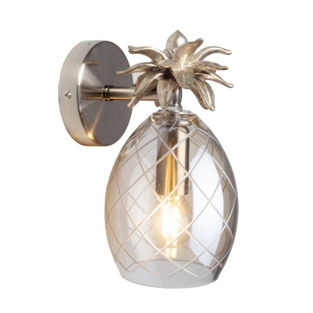Laura Ashley Pineapple Wall Light With Champagne Glass Shade