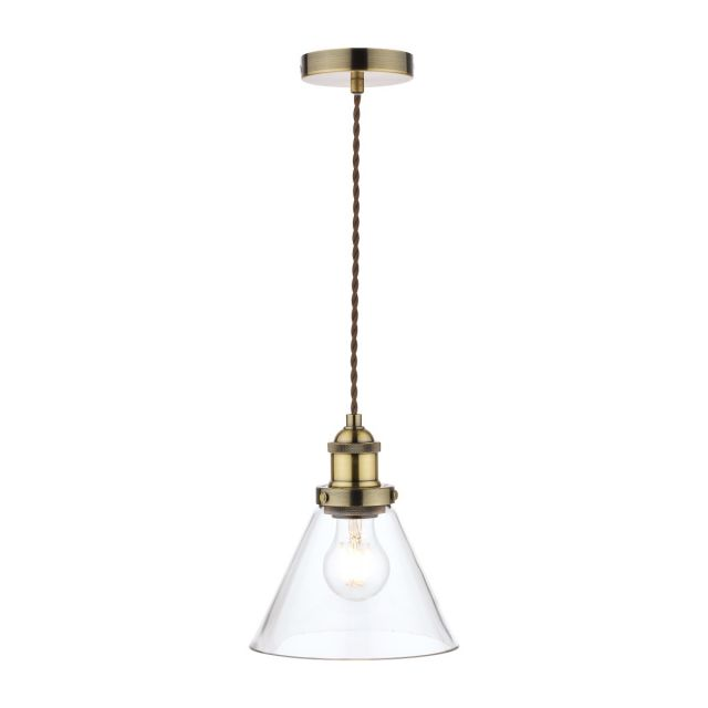 Laura Ashley Isaac 1 Light Pendant Ceiling Light In Antique Brass Finish