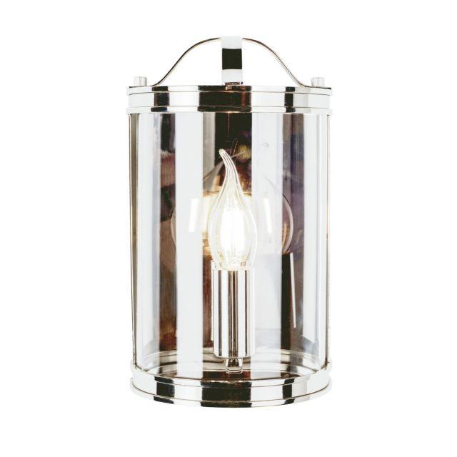 Laura Ashley Harrington Single Wall Lantern In Polished Nickel Finish