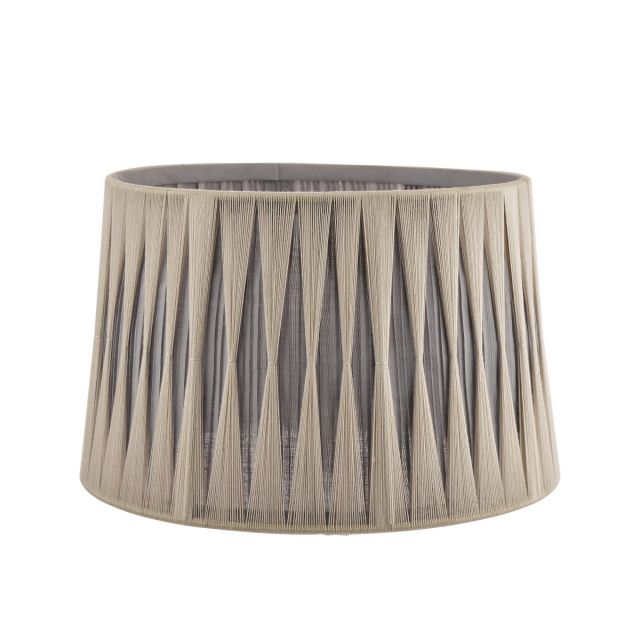 """Laura Ashley Pleated Soft Grey and Charcoal Empire Shade 12"""""""