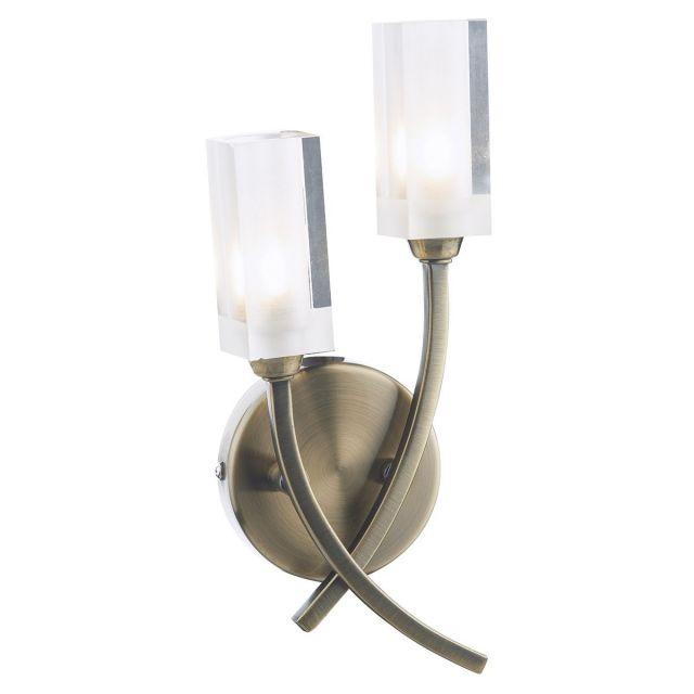 Dar MOR0975 Morgan 2lt Wall Light  Antique Brass