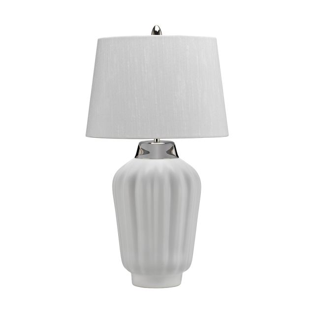 Quintessentiale QN-BEXLEY-TL-WPN Bexley Modern Table Lamp In White And Polished Nickel