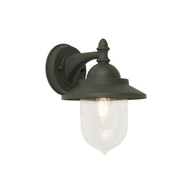 Modern Grey IP44 Outdoor Exterior Wall Light Lantern