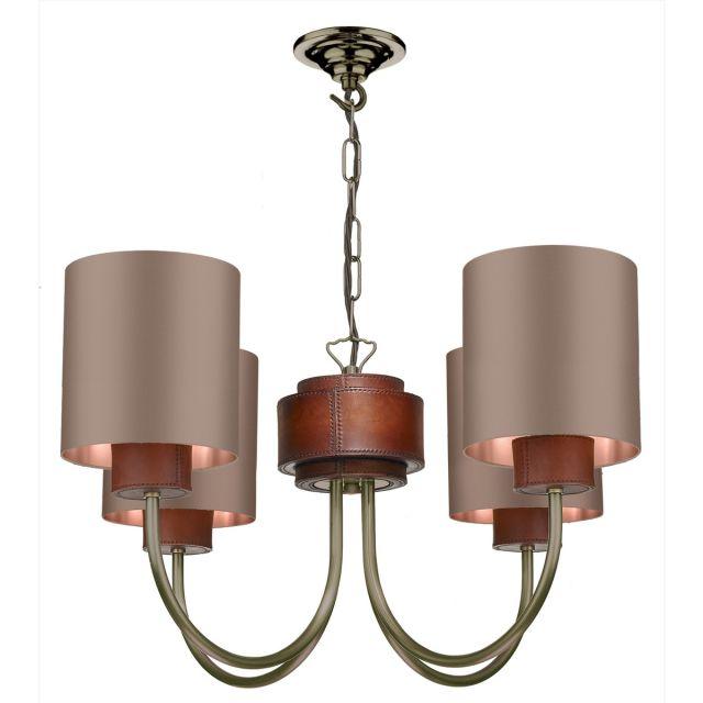 David Hunt Lighting SA0475 SADDLER 4 Light Ceiling Pendant In Antique Brass Fitting Only