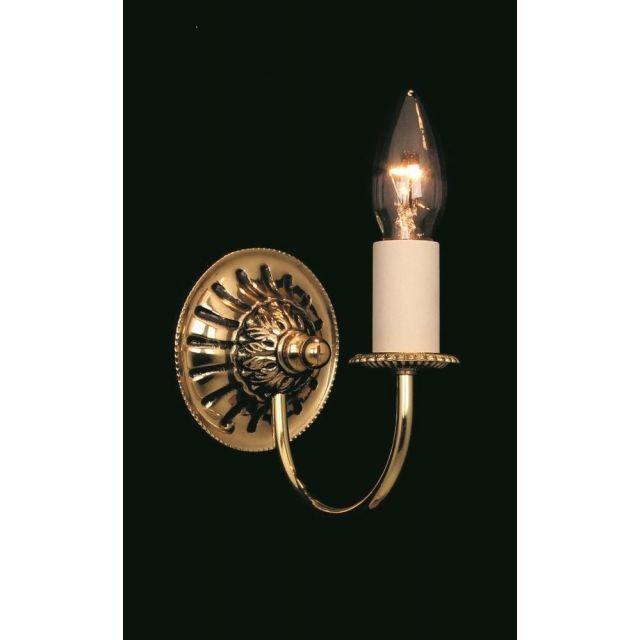 SMBB00071/PB Solar 1 Light Polished Brass Wall Light