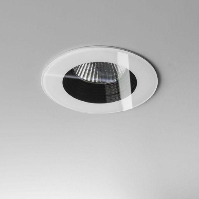Astro 1254013 Vetro One Light Round Recessed Ceiling Downlight In White - D: 85mm