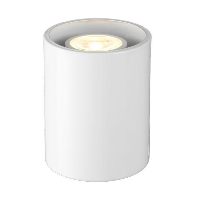 Small Modern White LED Floor / Table Lamp Uplighter - No Bulb