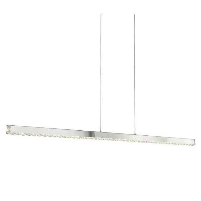 Searchlight 7005CC Clover Straight Ceiling Pendant Light In Chrome And Crystal Glass